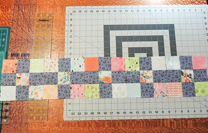 Sew the nine-patch blocks together. PFAFF performance icon