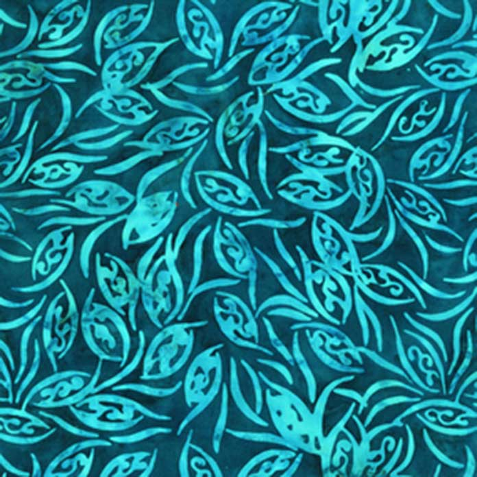 2169Q Teal Leaves Anthology Fabrics Little Girl in the Blue Armchair; Spectrum QAL 2020