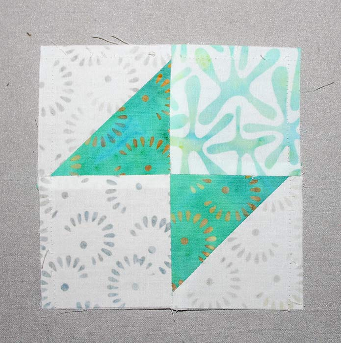 Step 4A - Instructions for Spectrum QAL 2020 Block 2 featuring The Little Girl in the Blue Armchair collection by Anthology Fabrics.