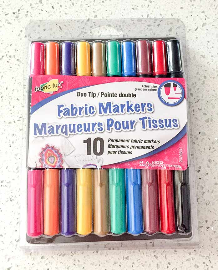 A package of Fabric Fun Fabric Markers