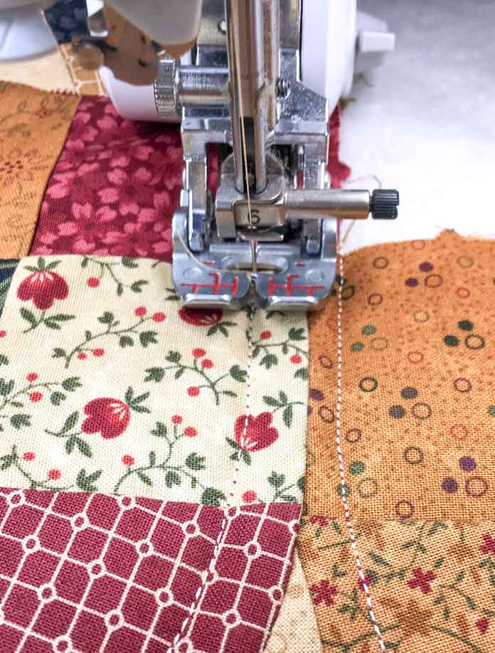 The quilting stitches