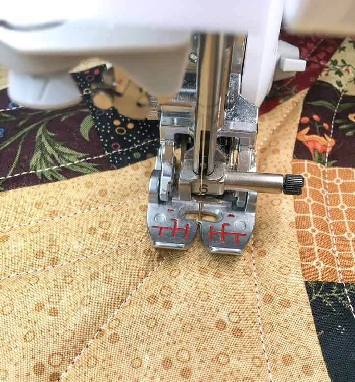Straight and curved quilting