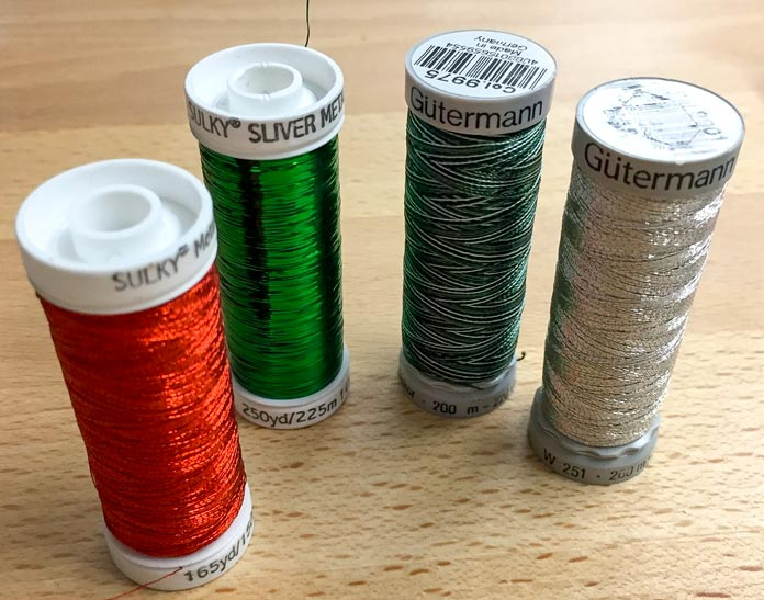 Luscious and sparkly thread from Gütermann really makes this project shine