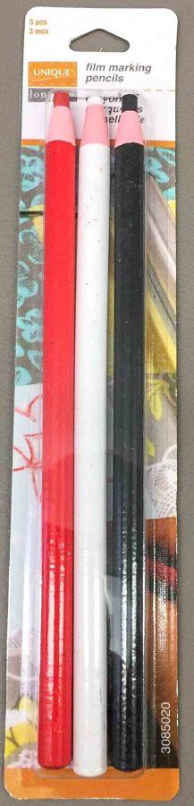 UNIQUE longarm film marking pencils, set of 3