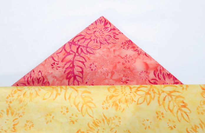 2 wonderful fabrics from the Boho Beach yellow colorway collection