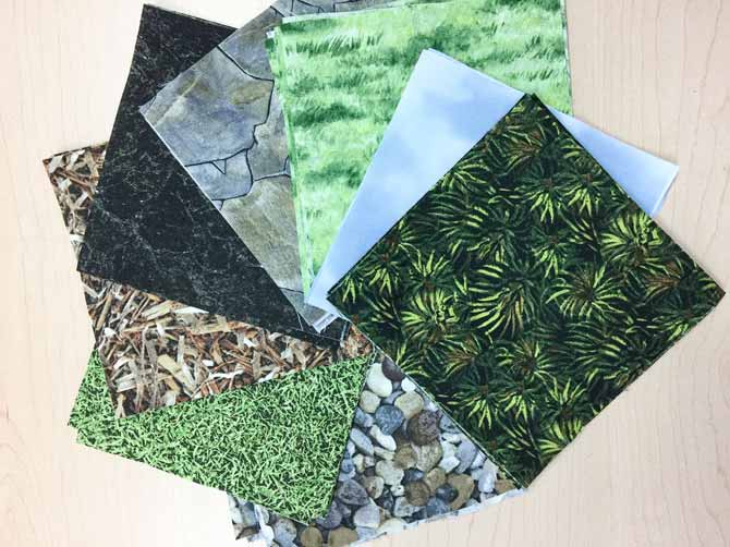 Nature looking fabric on table Northcott Fabrics