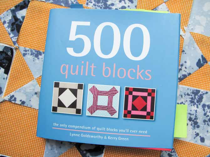 '500 quilt blocks' book holds a lot of quilt block possibilities including their variations.