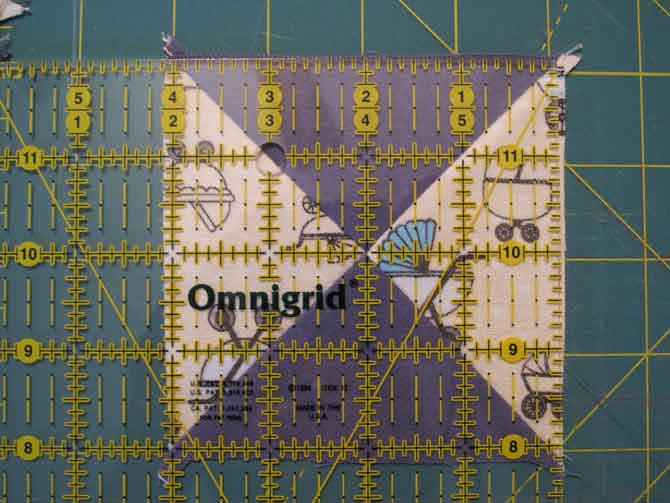 Precision is everything in quilting, particularly in the many steps to make a QST block.