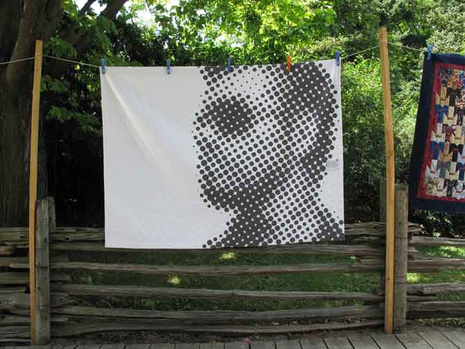 George Michael, he's even gorgeous on a modern quilt!