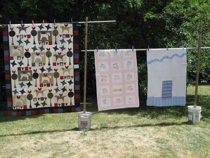 Sure enough, as mom and I are making our baby quilts, here are a boy and girl quilts! One is more traditional the other is modern. I'd like to try a modern quilt some day.