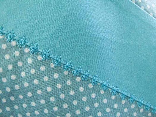 Stitch 7-065 has been stitched along the complete length of my seam