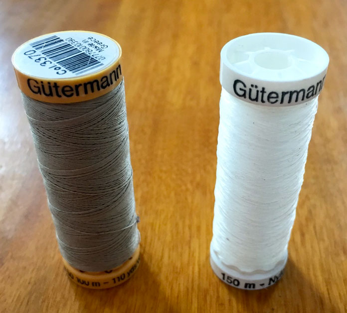Gütermann cotton and invisible nylon threads for piecing and applique