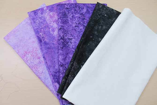 Fabric from Northcott's Stonehenge Gradation Brights - Amethyst collection