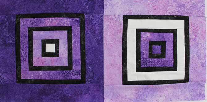 "Block 1 and 2 each measuring 12½"" block."
