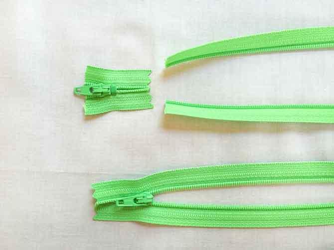 Cut zipper ends off to make flower stems.