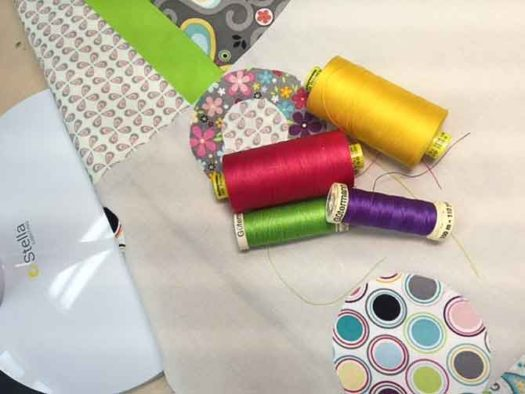 Use a variety of colored threads when free motion quilting.