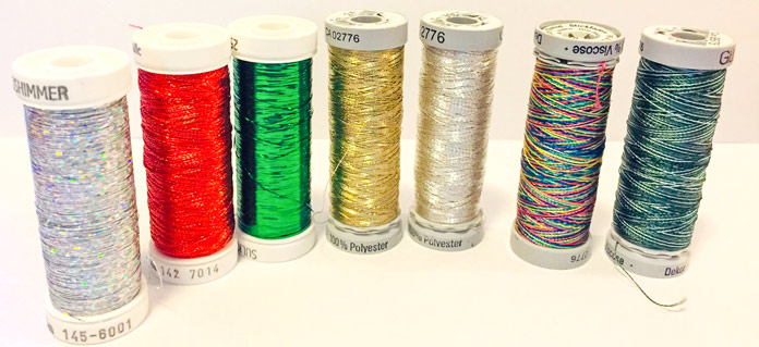 Gütermann Metallic Thread shimmers and sparkles on holiday projects