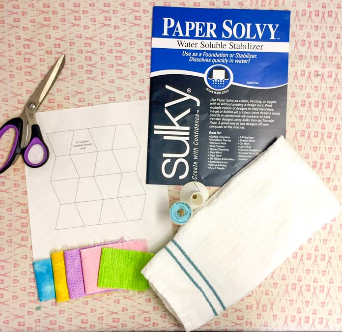 Making easy work of English Paper Piecing with Sulky Paper Solvy