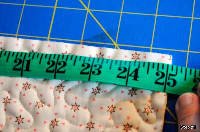 Step #1 - Measure the width of the quilt