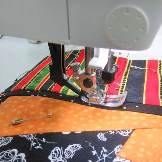"Quilting ""in the ditch"""