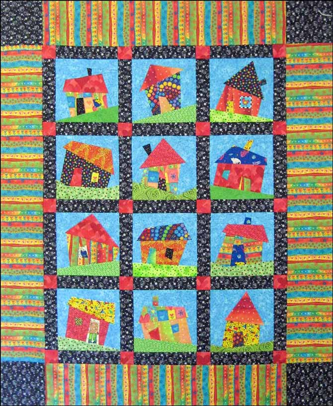 Hip Hop Houses pattern by Jean Boyd
