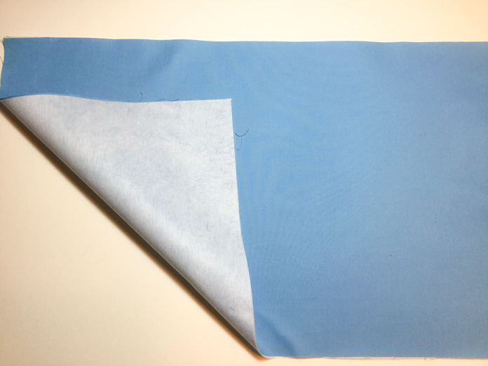 Inside fabric with fusible interfacing attached