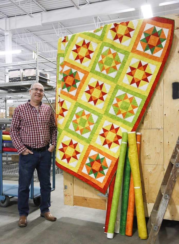 Paul Leger and his variation on the Ohio Start quilt block