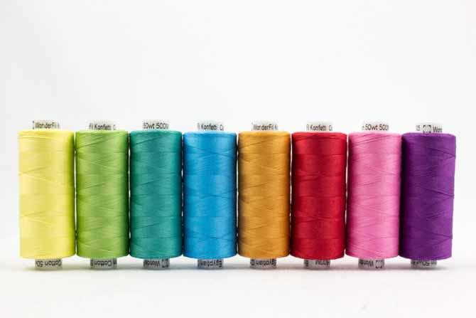 Konfetti threads in bright colors