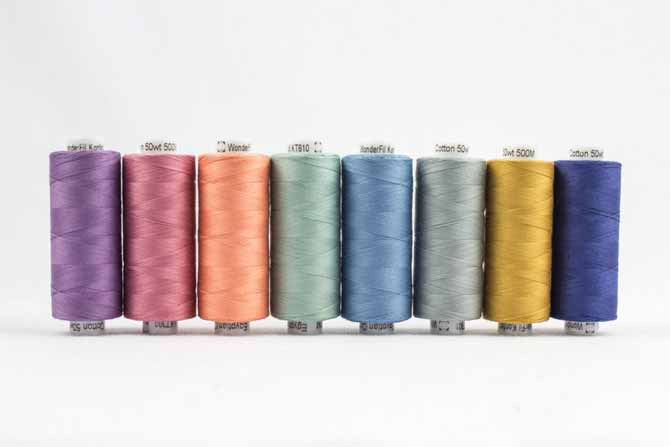 Konfetti threads in more quiet colors by WonderFil Threads
