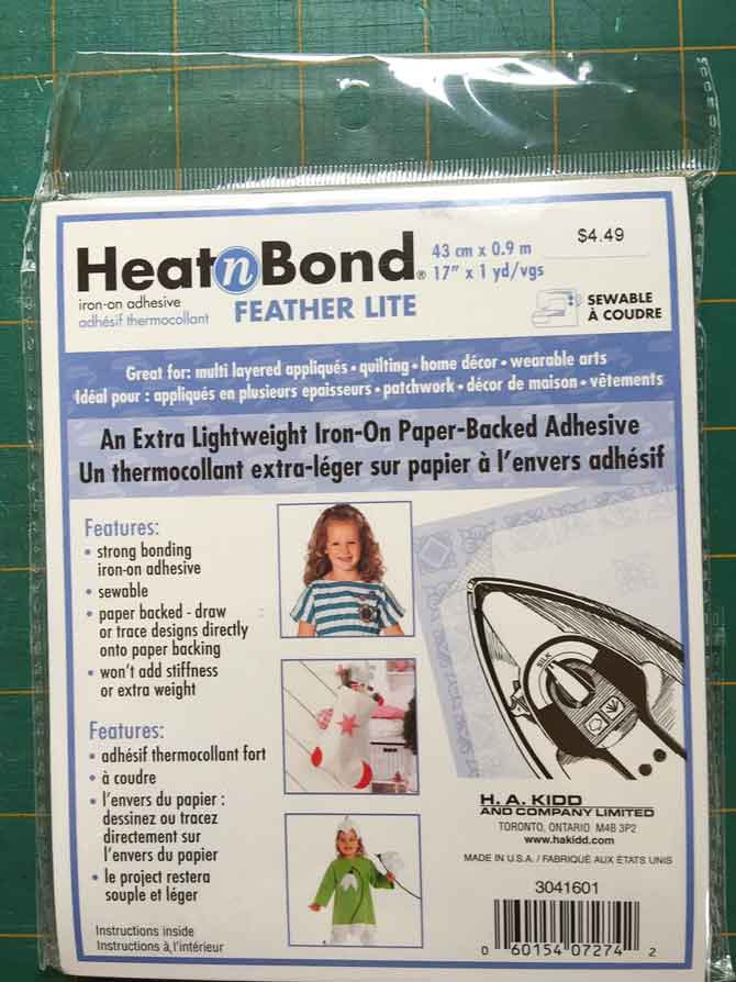 HeatnBond Feather Lite iron-on adhesive for fusing flower circles.