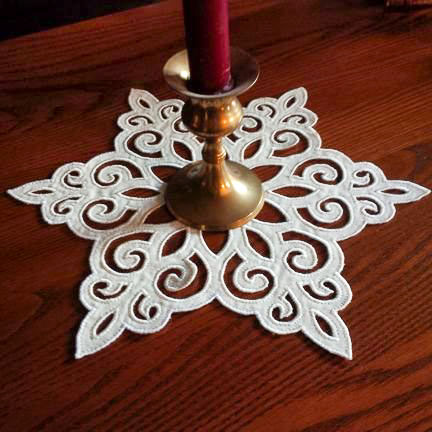 Lacy Snowflake Centerpiece