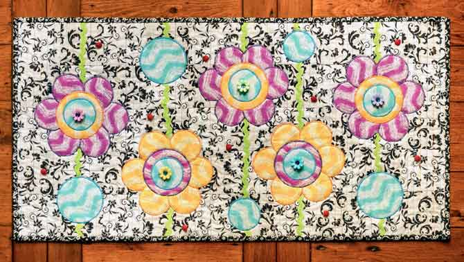 Finished runner called Ladybugs in the Garden