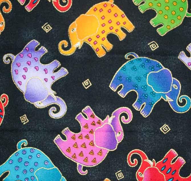 Laurel Burch elephant fabric