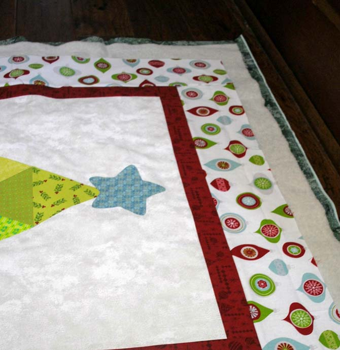 Layering the quilt #2