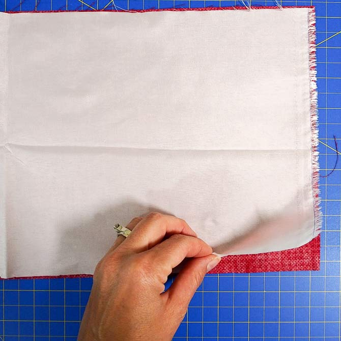 Layering the fabric & Stitch-N-Steam