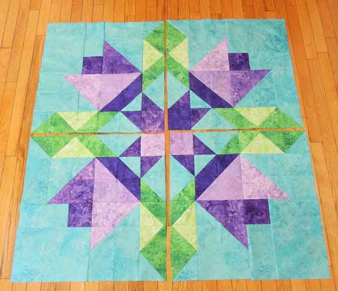 center panels of quilt