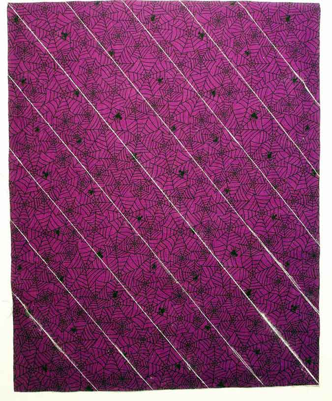 Quilting lines marked on fabric
