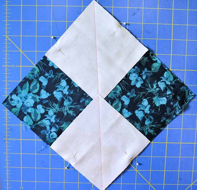Lining up the two smaller squares