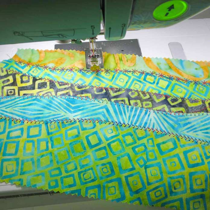 Wall quilt tutorial: decorative stitches and curved piecing, let's do it!