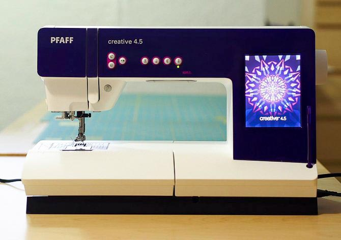The Pfaff Creative 4.5 sewing machine