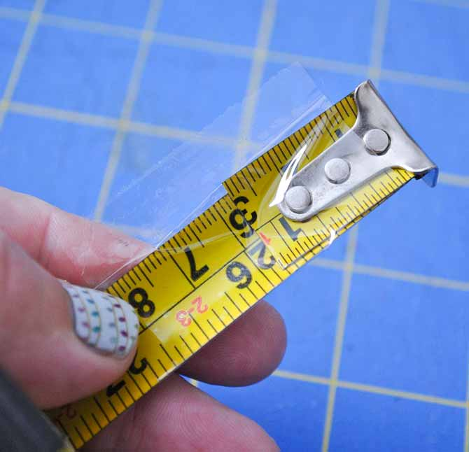 Make sure to tape the end of the tape measure back on to prevent the tape from going all the way into the case