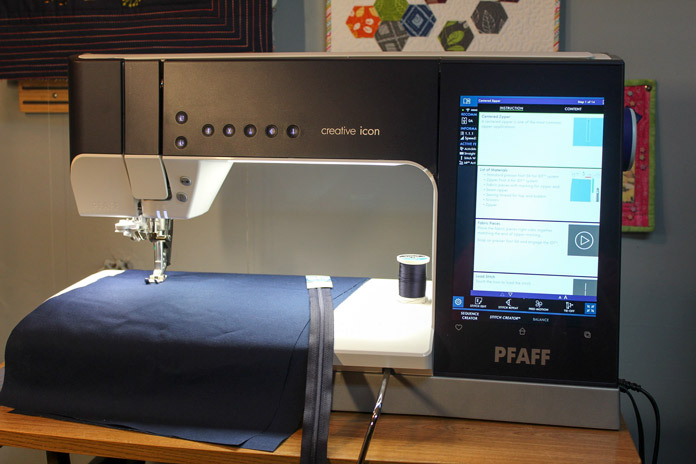 Making cushions with the PFAFF creative icon