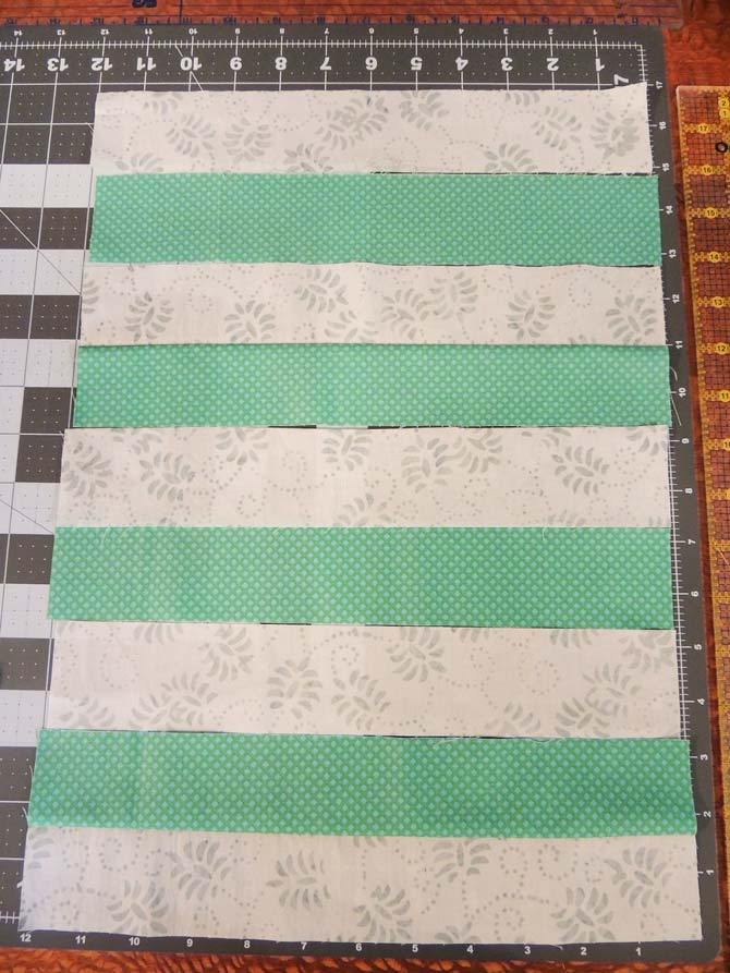 Fabric strips to make own striped fabric.