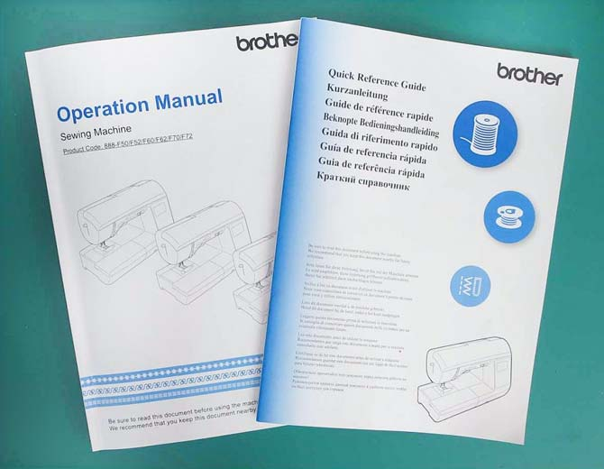 Operation manual and quick reference guide for the Brother NQ900