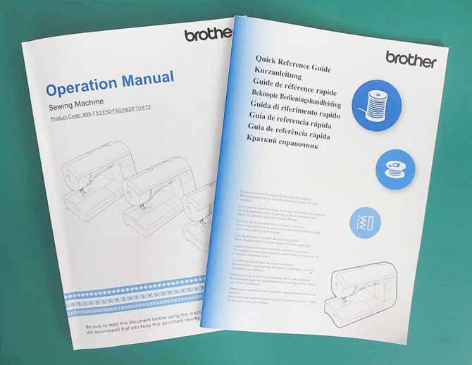 Two easy-to-read manuals are included with the Brother NQ900.