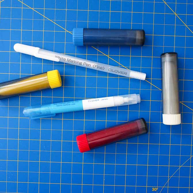 Assortment of marking pens