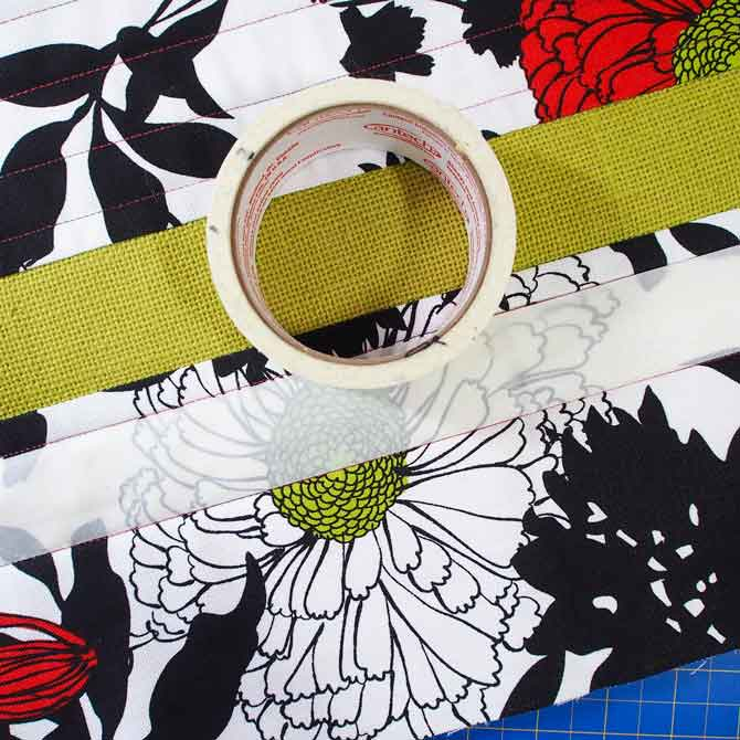 Masking tape to mark the quilting lines