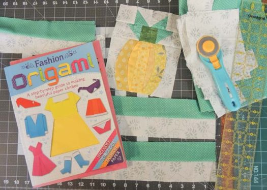 Materials for quilted book bag