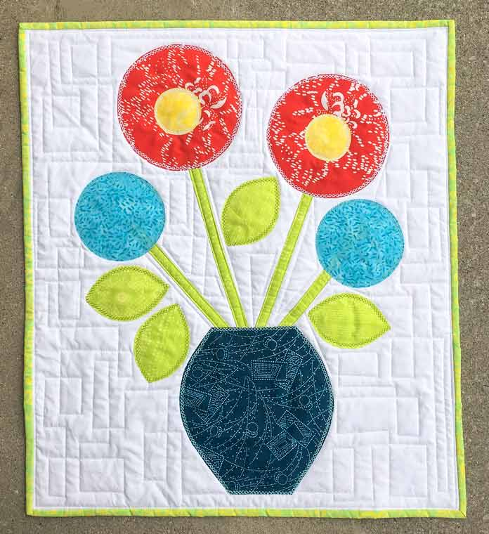 The May Flowers Applique Design by Tania Denyer of ginger quilts!