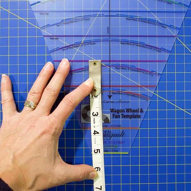 Measuring for size to cut fabric strip